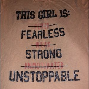 This Girl Is Fearless Strong Unstoppable Size 16